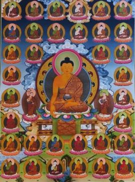 Masterpiece 35 Buddhas Thangka