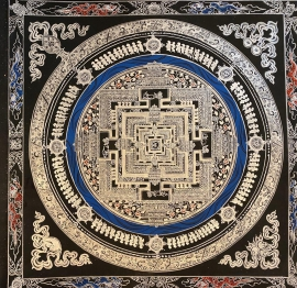 Kalachakra Mandala Gold and Sliver