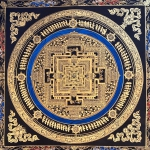 Golden Kalachakra Mandala Art