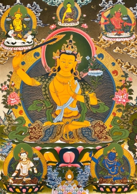 5 Manjushri Thangka Painting