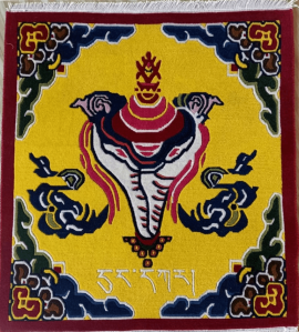 Tibetan Carpet with conch shell Design