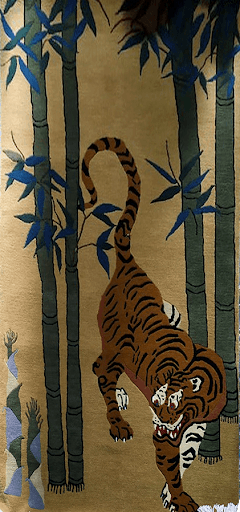 Tibetan Tiger and Bamboo Rug