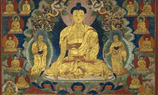 Sakyamuni Buddha with the 35 Buddhas of confession