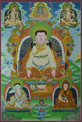 Guru Marpa Thangka Painting