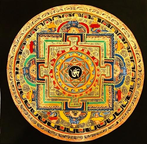 Om Mandala Thangka
