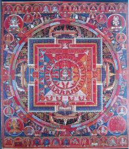 Mandala of Yogambara with Three Faces and Six Arms
