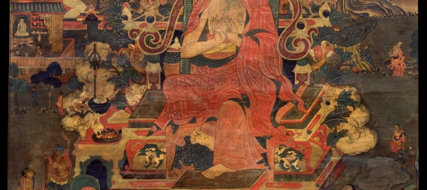 Depicting-Indian-Teacher-Asanga Thangka