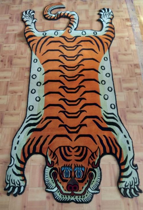 Large Tibetan Tiger Rug