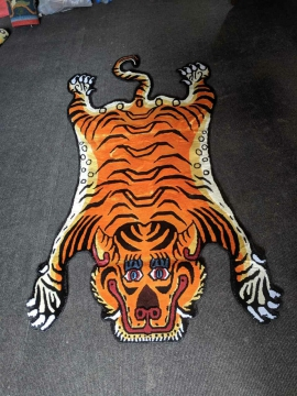 Tibetan Tiger Rug from Nepal