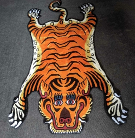 Tibetan Tiger Rug from Nepal