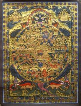 Traditional Art Wheel of Life Thangka