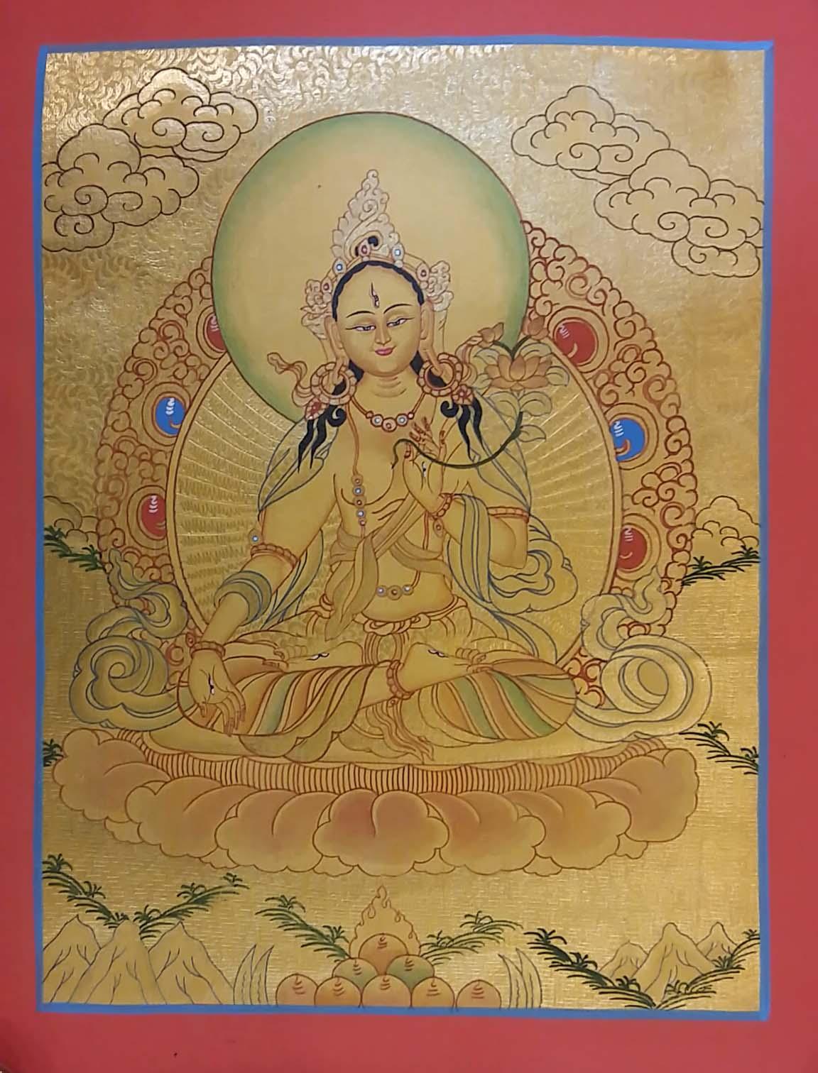 Golden Thangka of White Tara