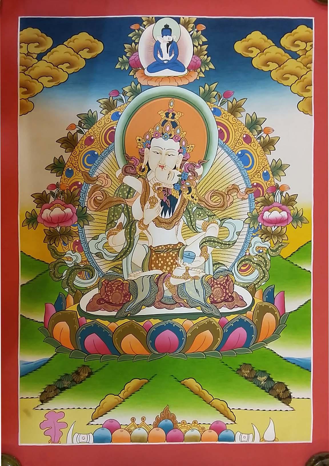 Vajrasattva With Samantabhadra Thangka