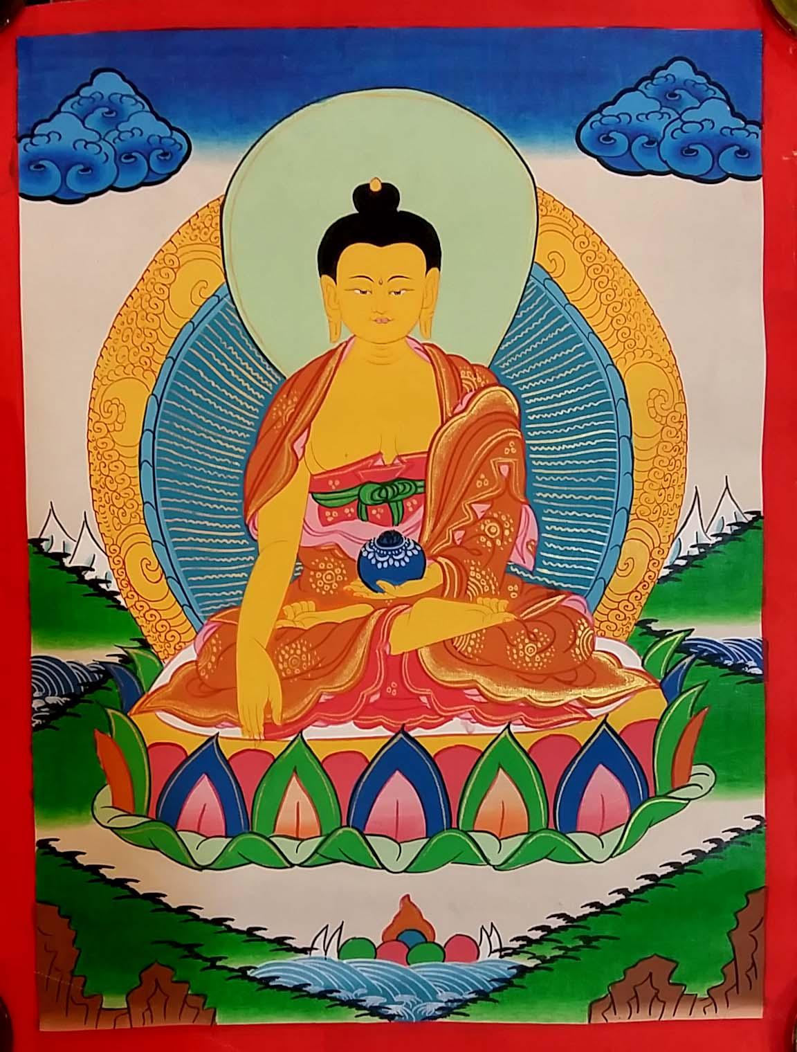 Shakyamuni Buddha Buddhist Thangka