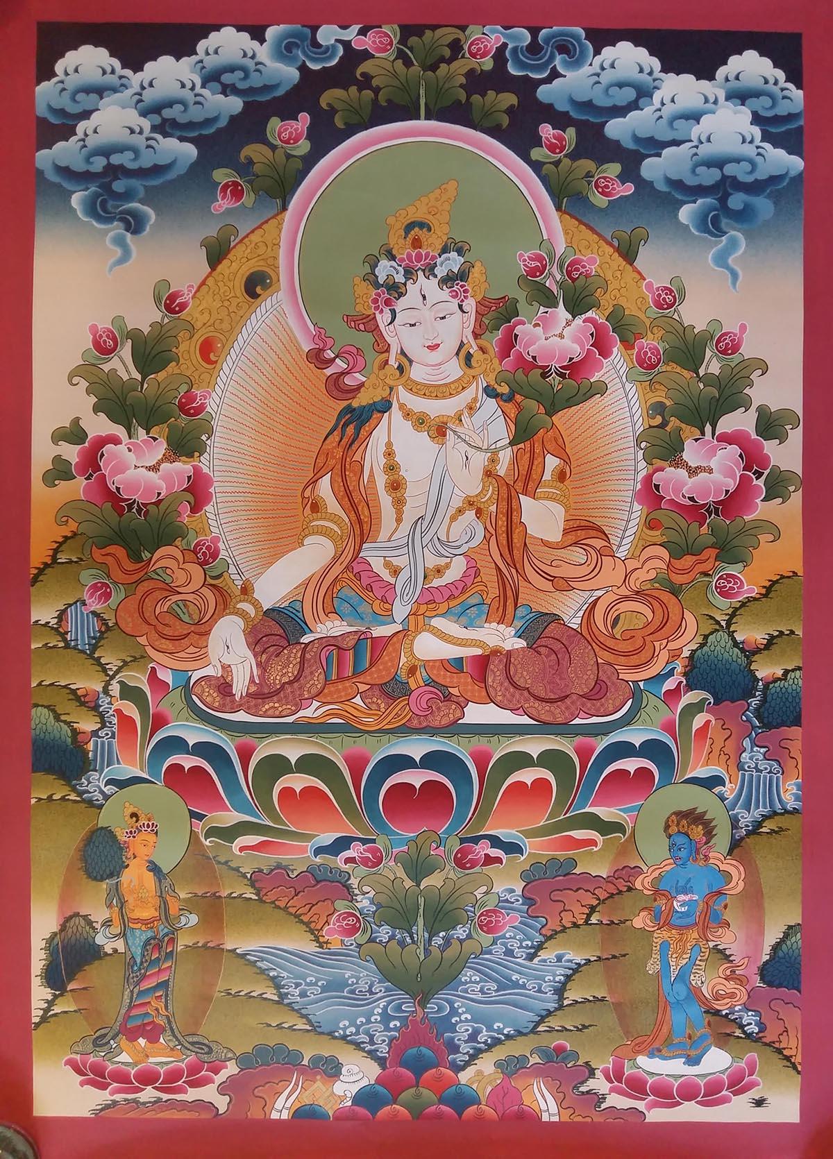 Sita Tara Tibetan Thangka Painting