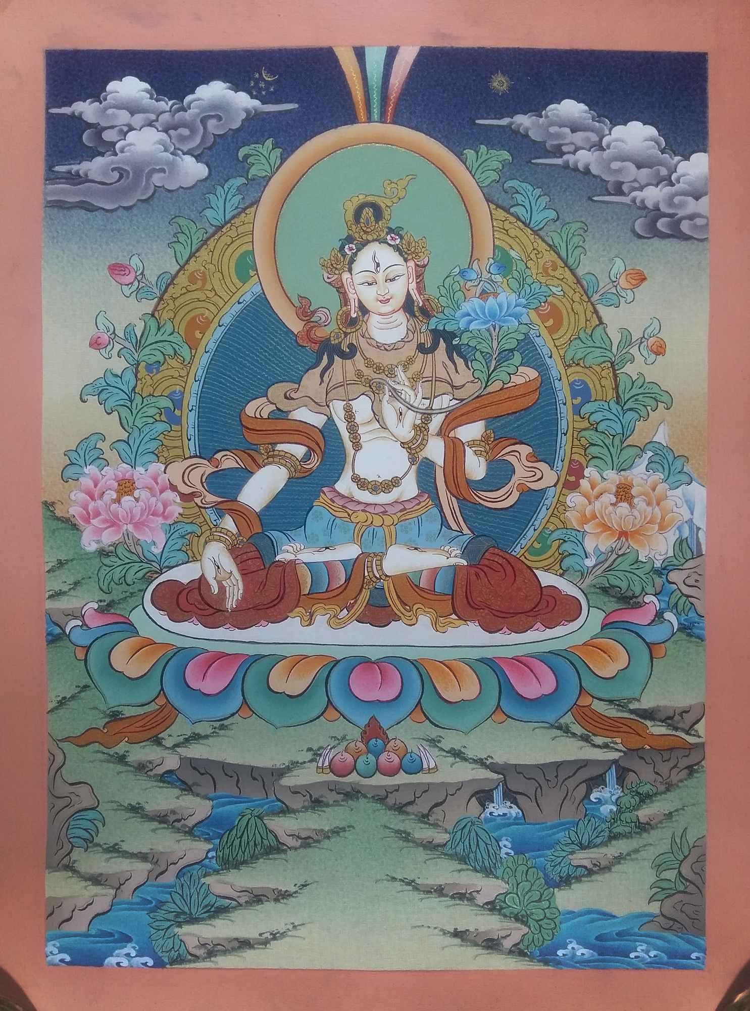 Tibetan Thangka White Tara