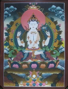 Bodhisattva Chenrezig Thangka Painting