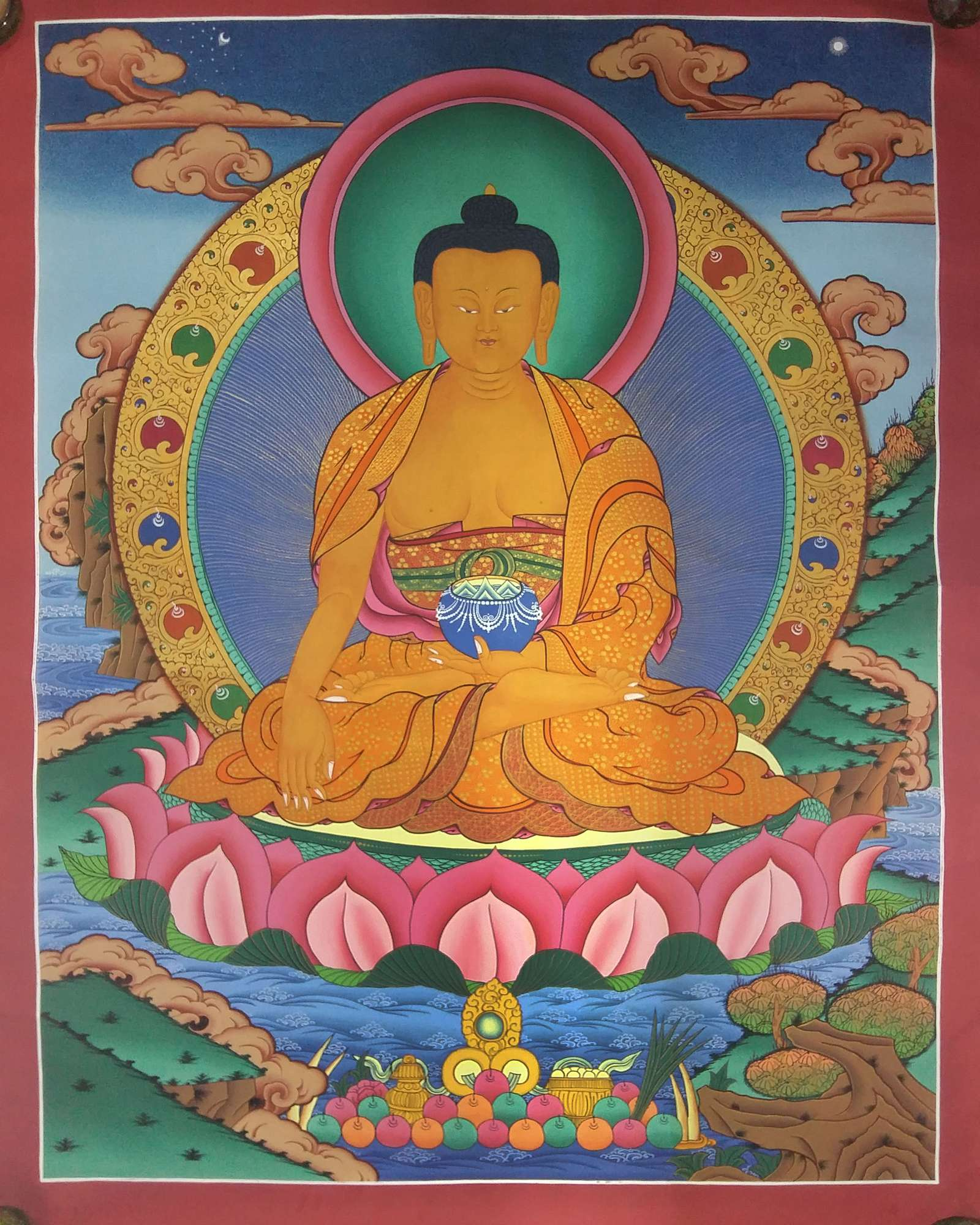Tibetan Shakyamuni Buddha Painting Thangka