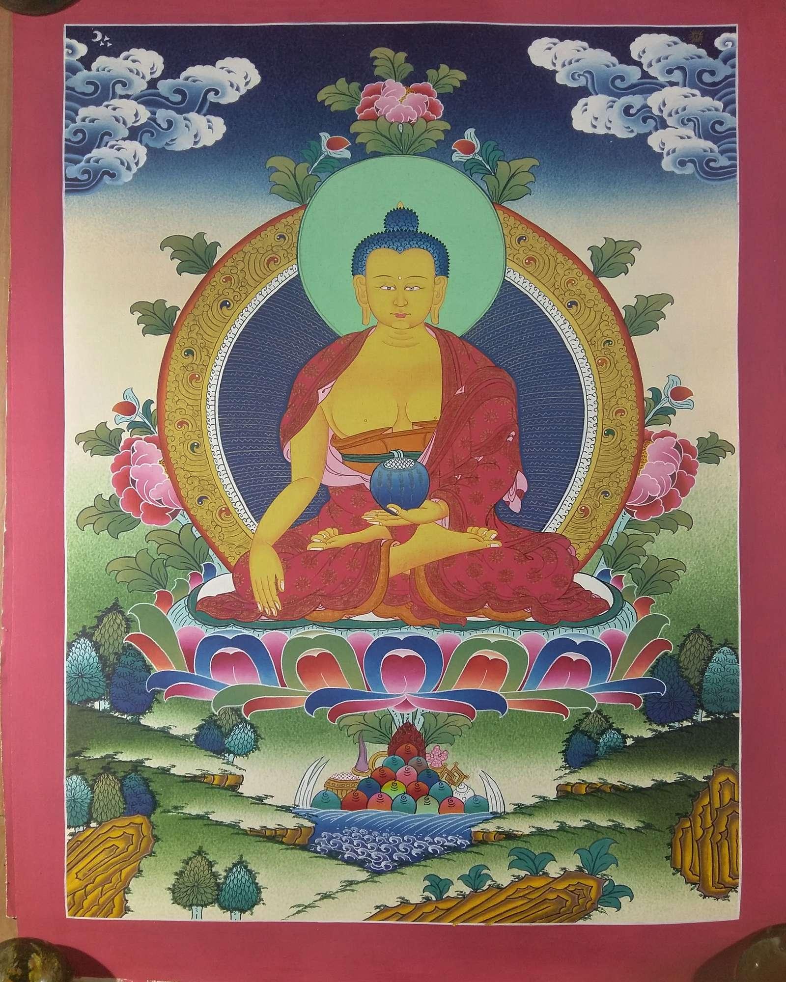 Tibetan Shakyamuni Buddha Thangka Art