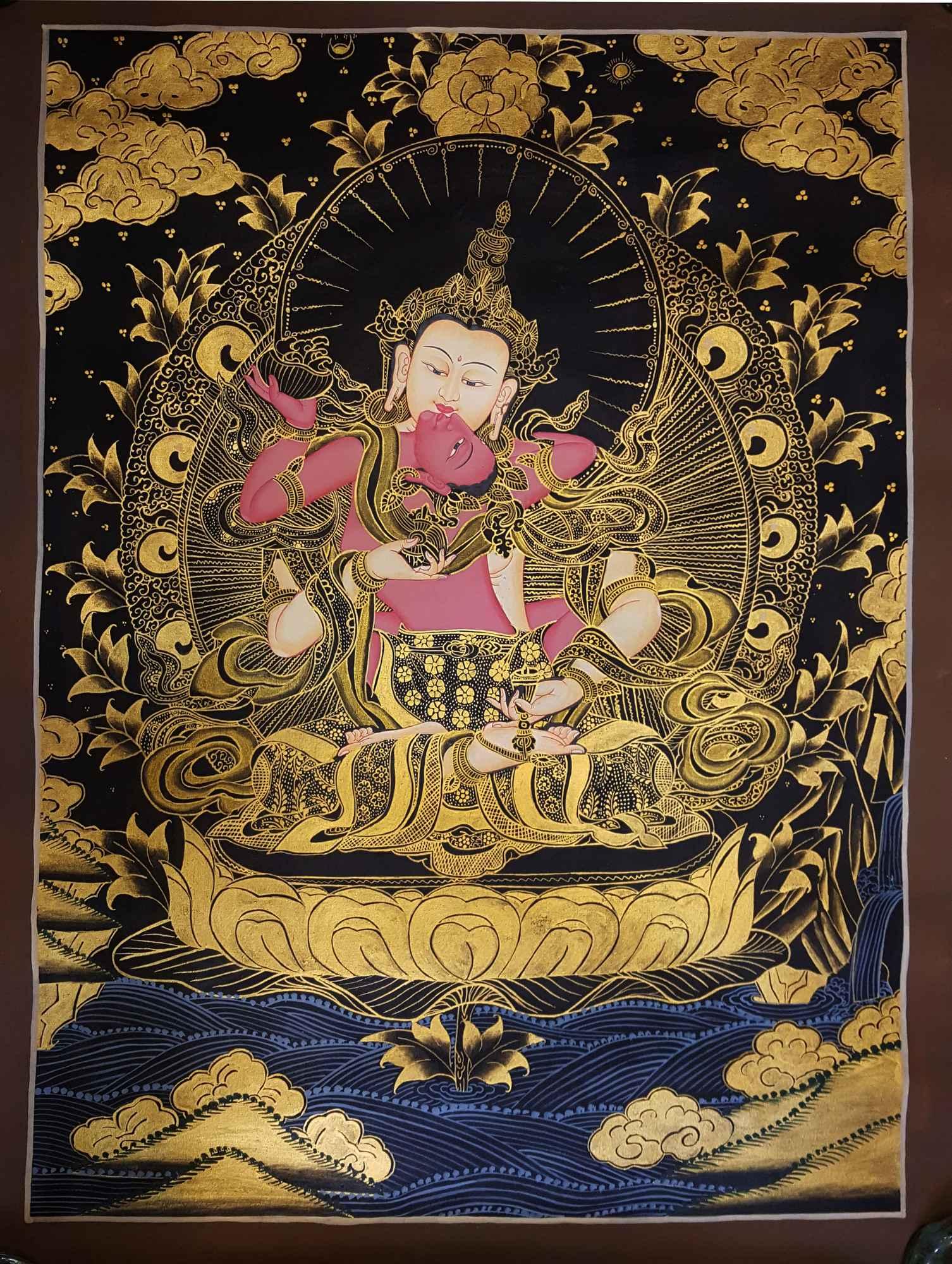 Meditation Painting - Vajrasattva