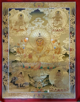 Five Jambhala Ritual Thangka