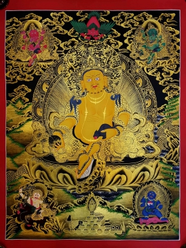 Five Jambhala Tibetan Thangka