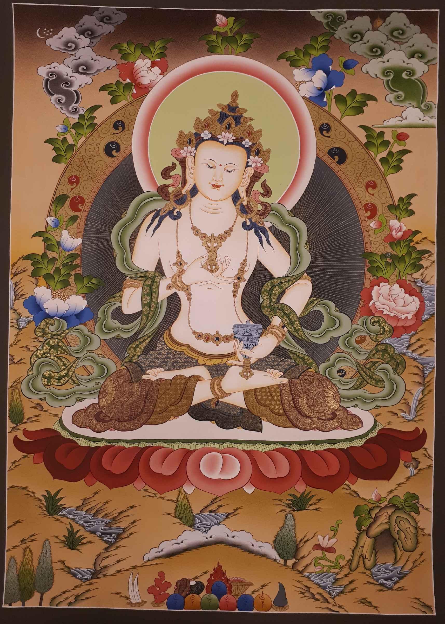 Vajrasattva Tibetan Ritual Thangka