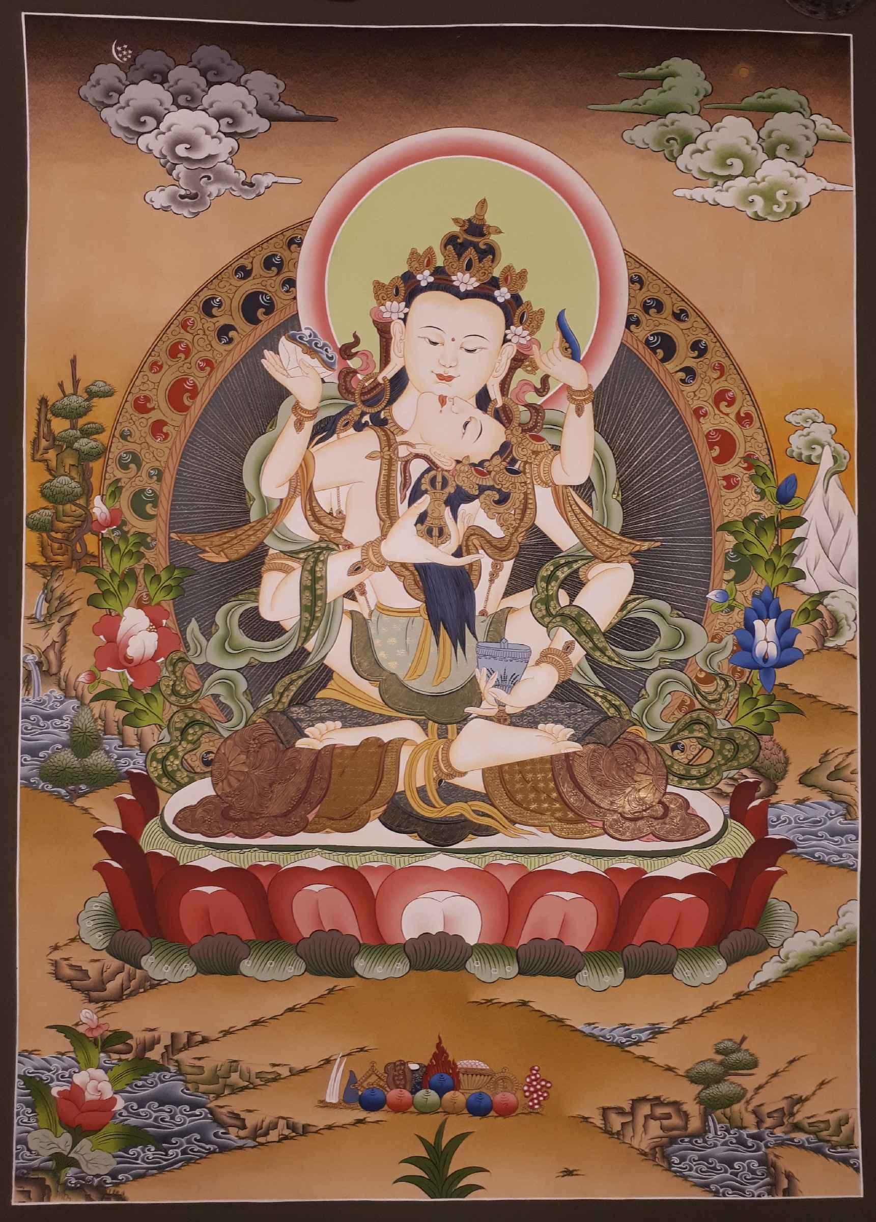 Vajrasattva Tibetan Painting Thangka