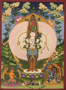 Avalokitesvara Tibetan Buddhist Thangka