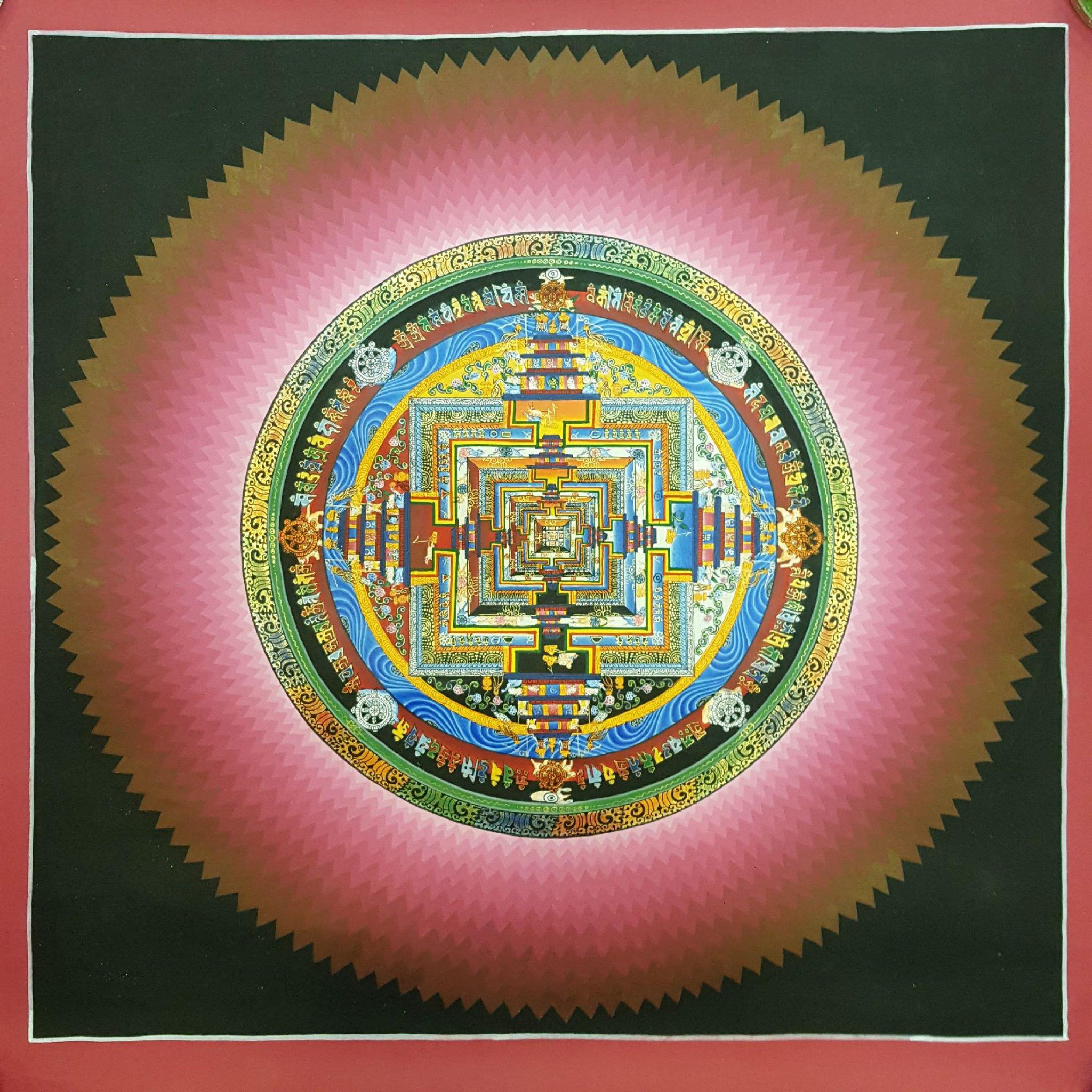 Kalachakra Meditation Painting Mandala