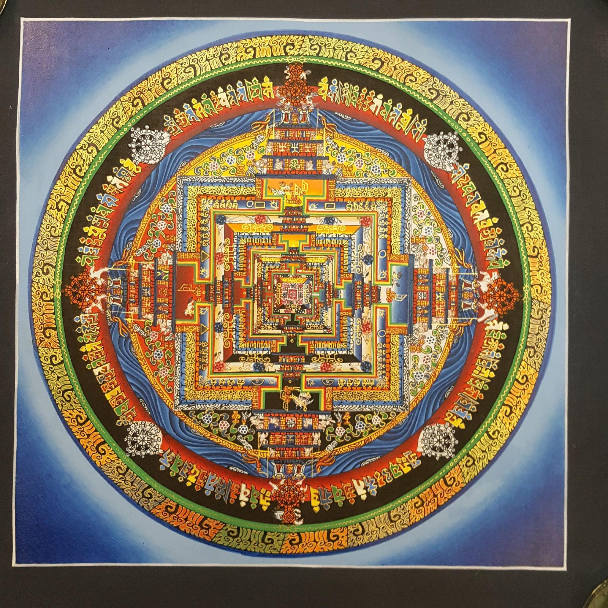 Tibetan Kalachakra Mandala Thangka