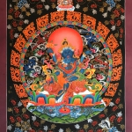 Tibetan Thangka of Black Jambhala