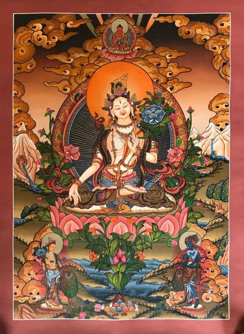 Tibetan Thangka of White Tara