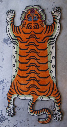 Large Tibetan Tiger Carpet