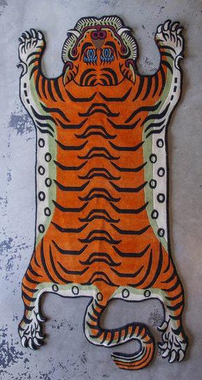 Large Tibetan Tiger Carpet