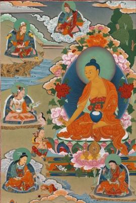 Guru Shakya Senge Thangka