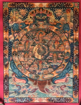Tibetan Thangka of Wheel of Life