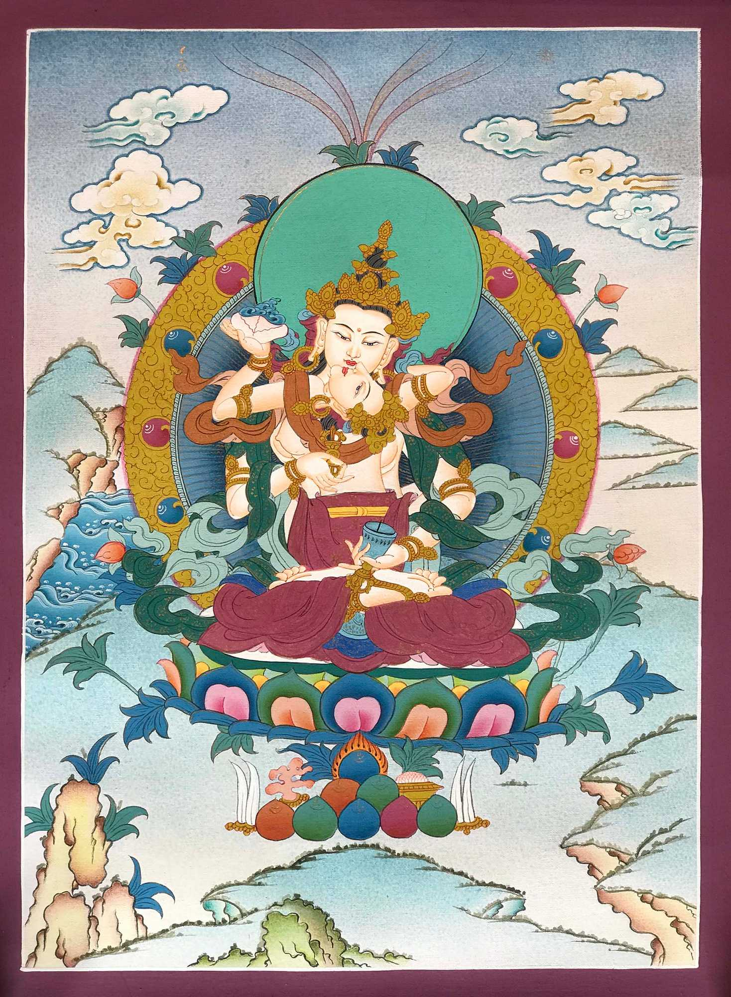 Buddhist Traditional Vajrasattva Painting