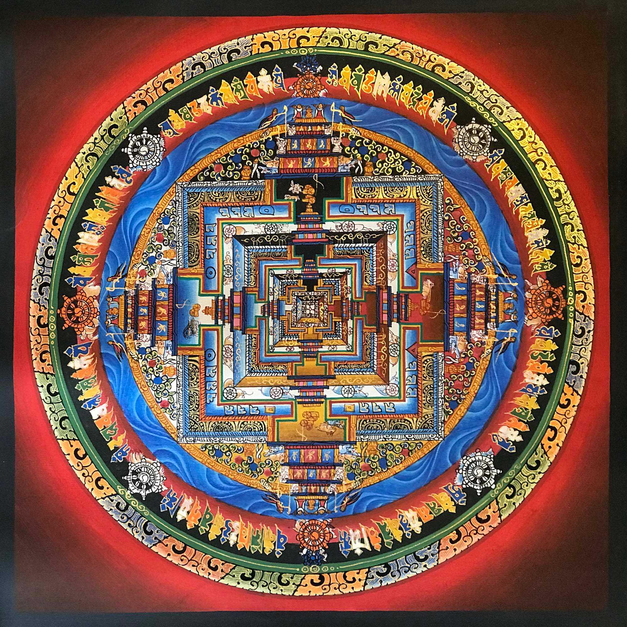 Tibetan Traditional  Kalachakra Mandala
