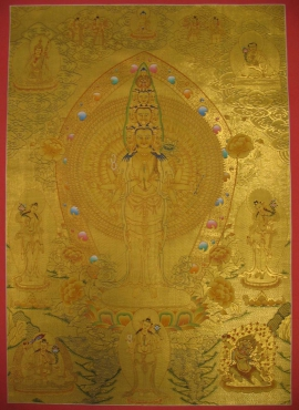 1000 Armed Avalokiteshvara Thangka