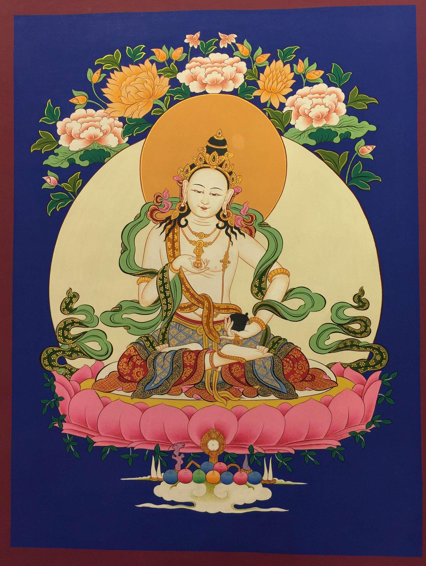Buddhist Traditional Vajrasattva Thangka
