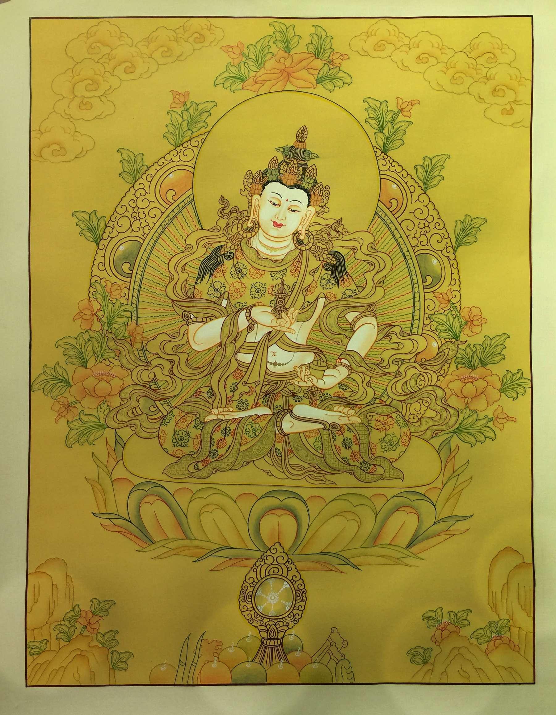 Tibetan Traditional Vajrasattva Thangka
