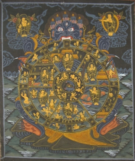 Wheel of Life Ritual Thangka Painting