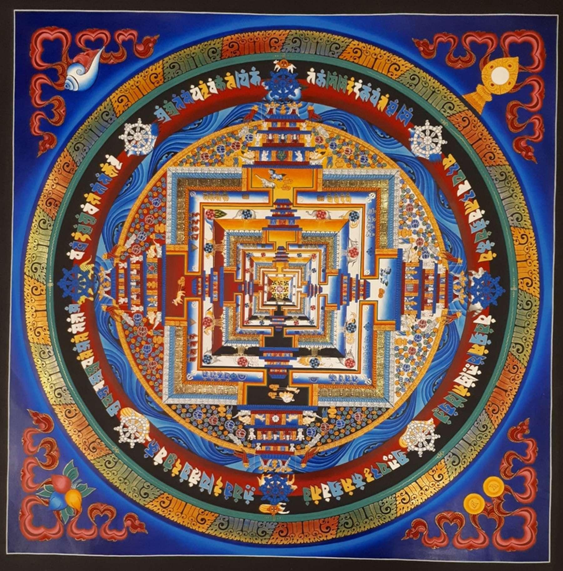 Kalachakra Buddhist Mandala Art