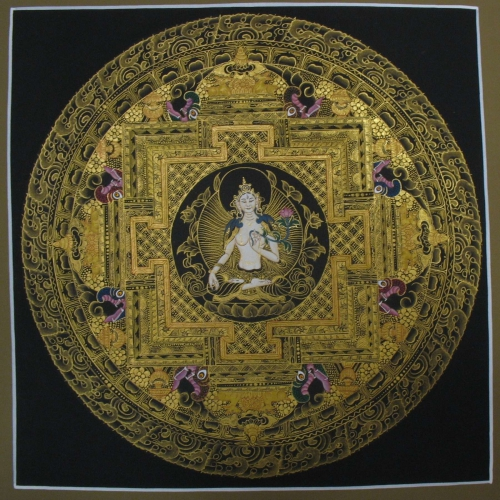 Black and Golden White Tara Mandala