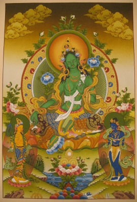 Green Tara Traditional Art