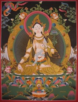 Dolma Karpo Tibetan Thangka