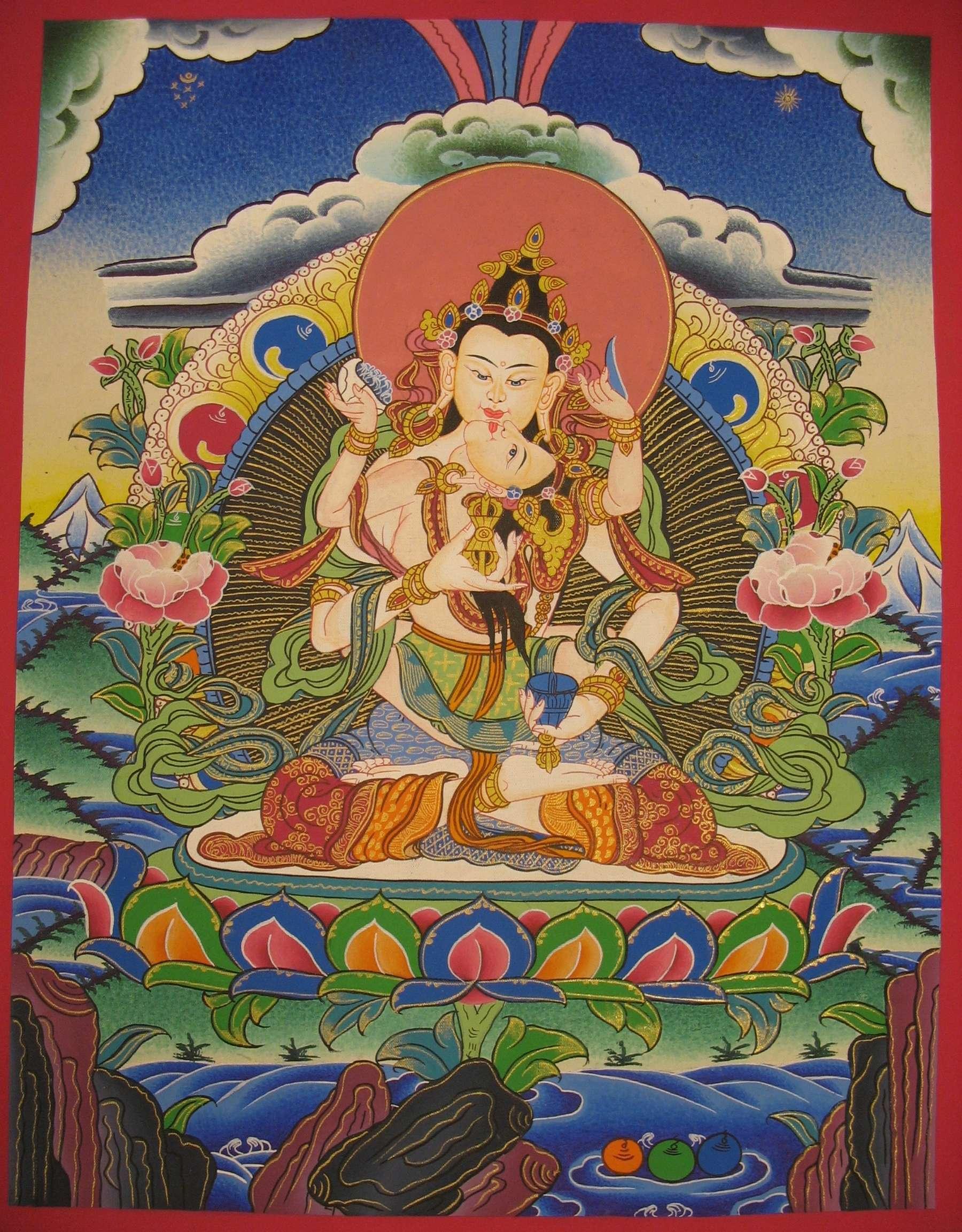 Vajrasattva Painting From Nepal