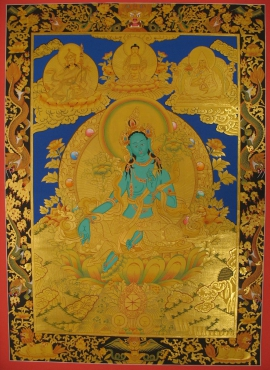 Tibetan Traditional Green Tara Thangka