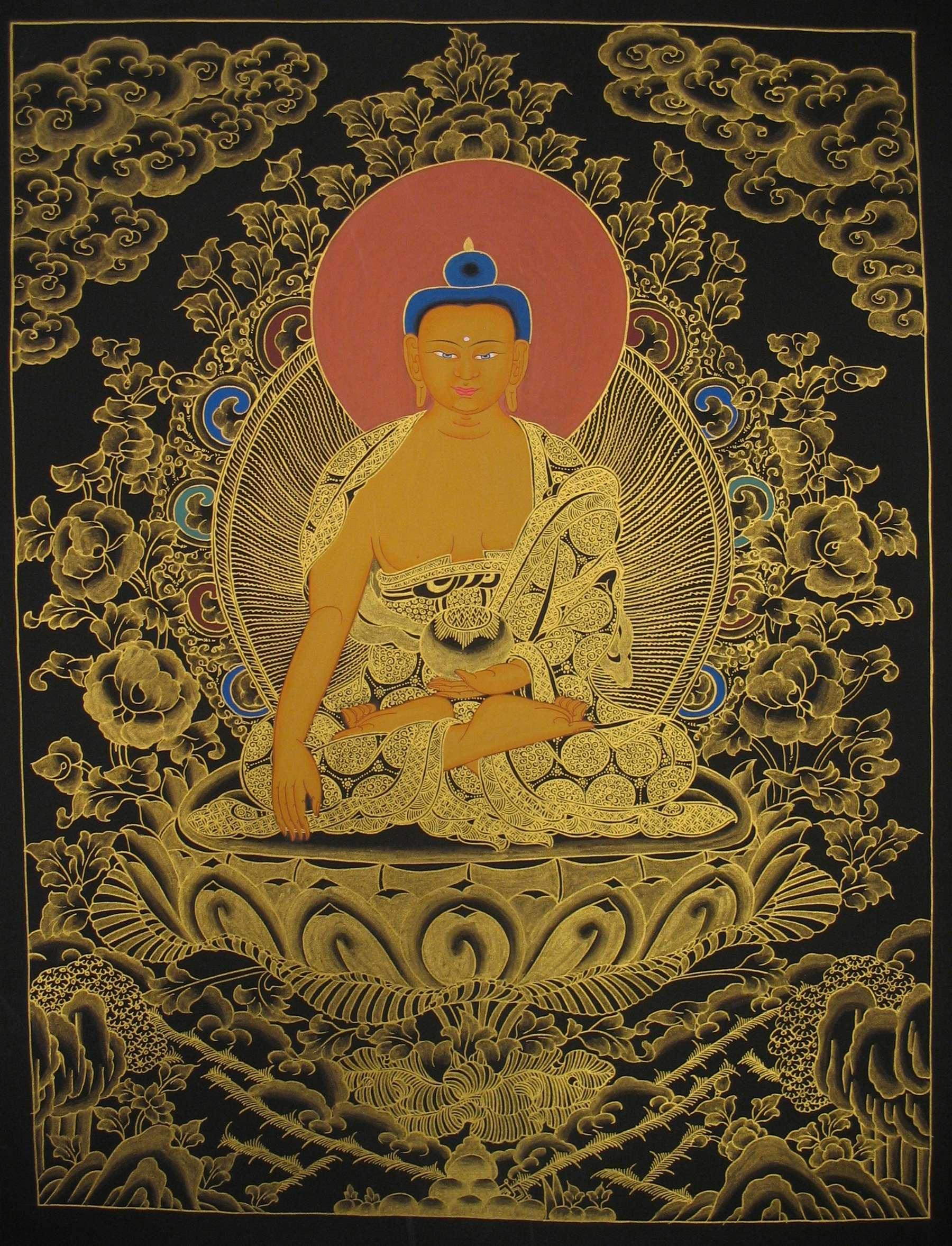 Scroll Painting Of Shakyamuni Buddha